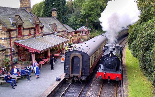 Lakeside steam railway